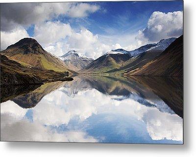 Mountains And Lake, Lake District Metal Print