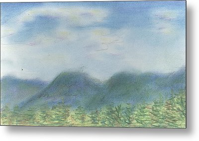 Metal Print featuring the pastel Mountains Over Lennox by Denny Morreale