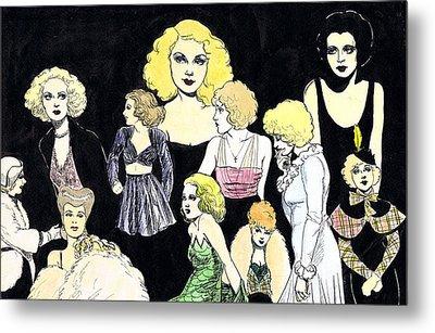 Movie Ladies Montage Metal Print by Mel Thompson