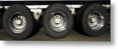 Moving Wheels Metal Print by Miguel Capelo