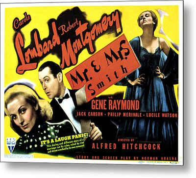 Mr. And Mrs. Smith, Carole Lombard Metal Print by Everett