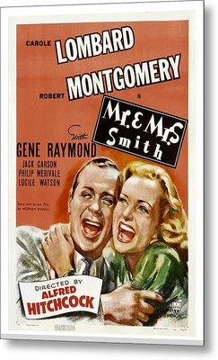 Mr. And Mrs. Smith, Robert Montgomery Metal Print