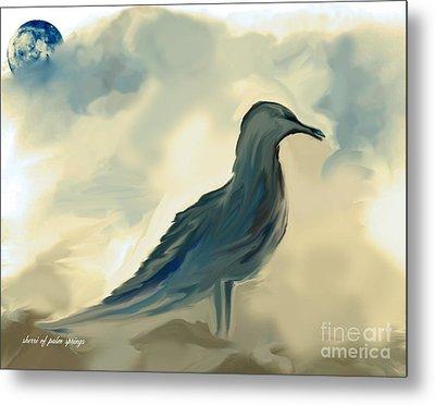Mr. Jonathon Seagull Of La Jolla California Metal Print by Sherri's Of Palm Springs