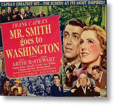 Mr. Smith Goes To Washington, James Metal Print by Everett