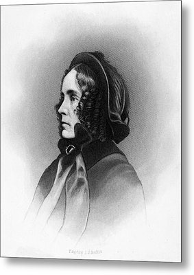Mrs. Franklin Pierce, Engraved By Jc Metal Print by Everett