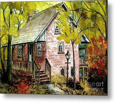Metal Print featuring the painting Mrs. Henry's Home 2 by Gretchen Allen