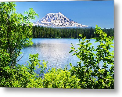 Mt Adams And Takhlakh Lake Metal Print by Ansel Price