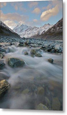 Mt Cook Stream Metal Print by Sven Klerkx