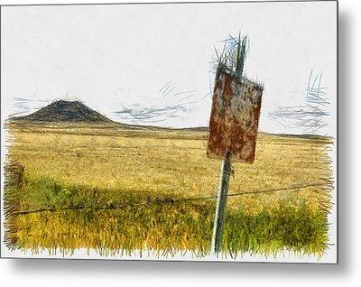 Mt Dora - Sketch Metal Print by Nicholas Evans
