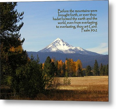 Mt Mclaughlin Psalm 90 Metal Print by Cindy Wright