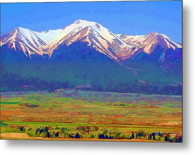 Metal Print featuring the digital art Mt. Princeton Morning by Brian Davis