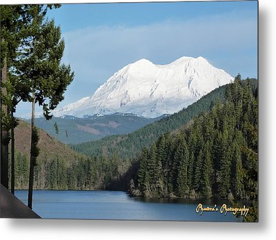 Metal Print featuring the photograph Mt. Rainier From Mineral Lake by Sadie Reneau