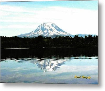 Metal Print featuring the photograph Mt. Rainier On A Summer Day by Sadie Reneau