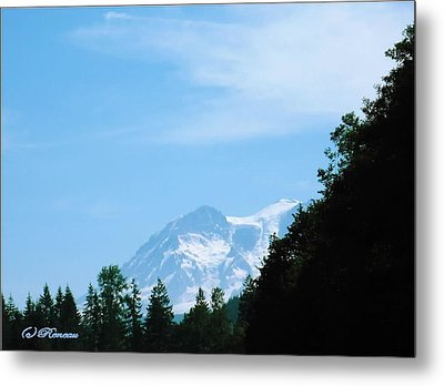 Metal Print featuring the photograph Mt Rainier Peeking by Sadie Reneau