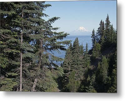 Mt. Redoubt View Metal Print