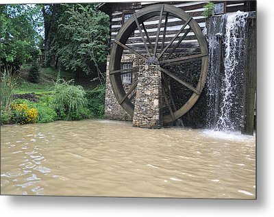 Muddy Water After The Rain Metal Print by Jan Amiss Photography