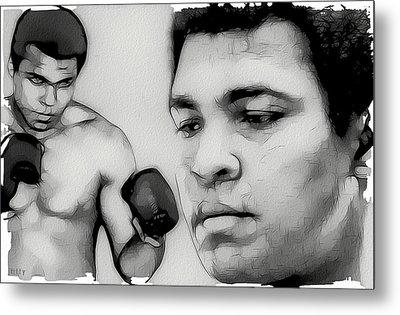 Muhammad Ali Metal Print by Tilly Williams