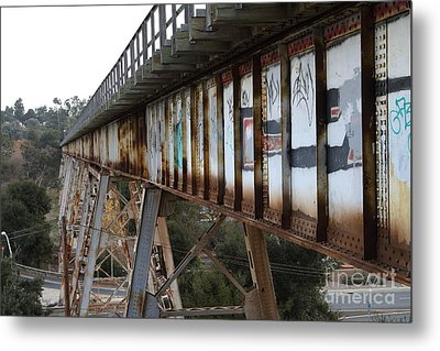 Muir Railroad Trestle In Martinez California . 7d10237 Metal Print by Wingsdomain Art and Photography