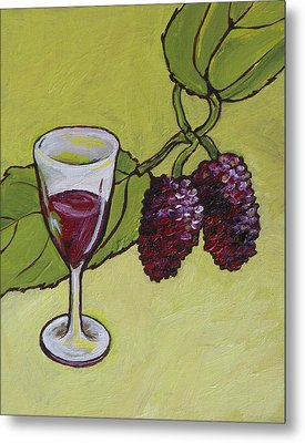 Mulberry Wine  Metal Print