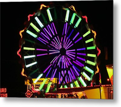 Multi Colored Ferris Wheel Metal Print by Kym Backland