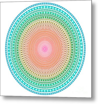 Multicolor Circle Metal Print by Atiketta Sangasaeng