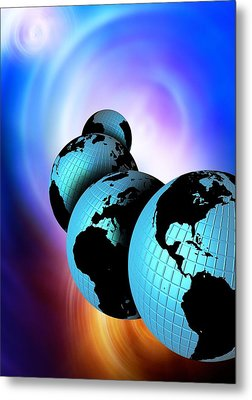 Multiple Dimensions, Conceptual Artwork Metal Print by Victor Habbick Visions