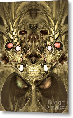 Mummy - Abstract Digital Art Metal Print by Sipo Liimatainen