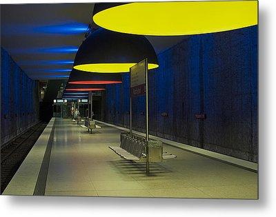Munich Subway No.3 Metal Print by Wyn Blight-Clark