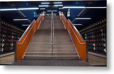 Munich Subway No.4 Metal Print by Wyn Blight-Clark