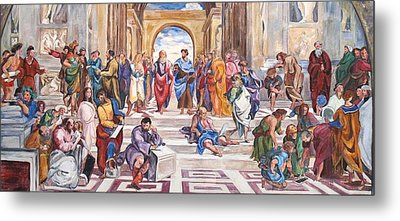 Mural After Raphael Metal Print by Becky Kim