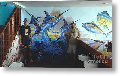 Mural In Bimini Metal Print by Carey Chen