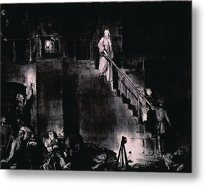 Murder Of Edith Cavell By George Metal Print by Everett