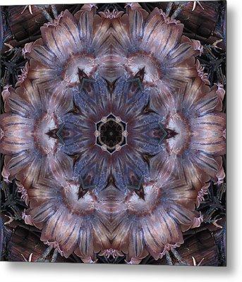 Mushroom With Blue Center Metal Print