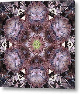 Mushroom With Green Center Metal Print