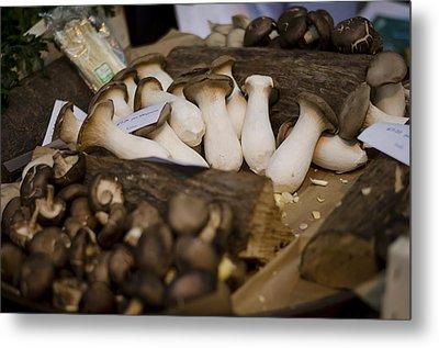 Mushrooms At The Market Metal Print by Heather Applegate