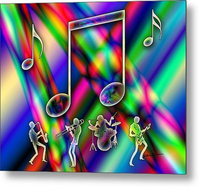 Music Metal Print by Anthony Caruso