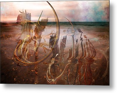Music By The Sea Metal Print