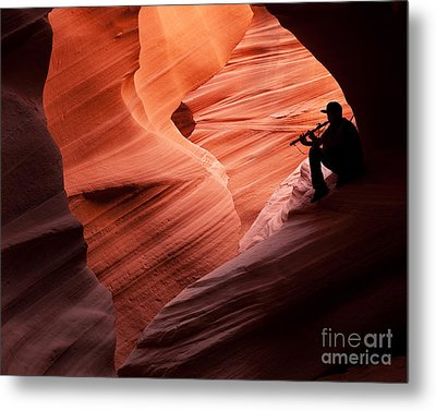 Music In The Canyon Metal Print by Bob and Nancy Kendrick