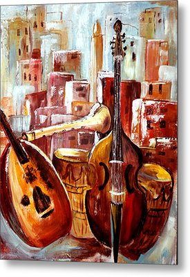 Music Of Morocco Metal Print by Patricia Rachidi