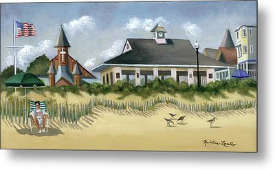 Music Pavillion In Ocean Grove  Metal Print