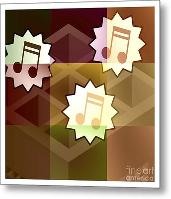 Musical Notes Metal Print by Holley Jacobs