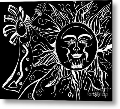 Musical Sunrise - Inverted Metal Print by Maria Urso