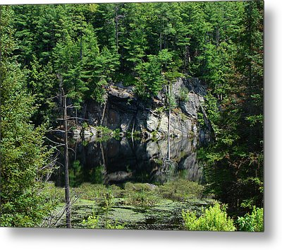 Metal Print featuring the mixed media Muskoka Pond by Bruce Ritchie