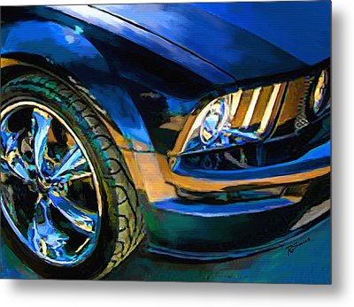 Metal Print featuring the painting Mustang by Robert Smith