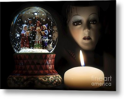 Metal Print featuring the digital art Muted Carol And Soul by Rosa Cobos