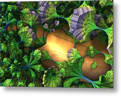 My Alien Garden Metal Print by Charles Jr Kunkle