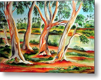 Metal Print featuring the painting My Australia Passion by Roberto Gagliardi