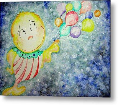 My Baloons Metal Print by Asida Cheng