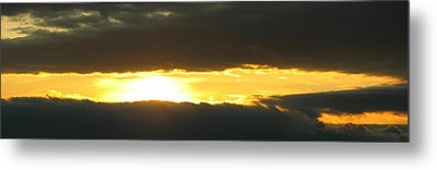 My Cloudy Sunset Metal Print