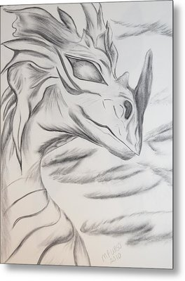 My Dragon Metal Print by Maria Urso